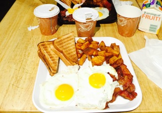 Some bacon and egg's just south from Central Park