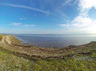 View towards Saaremaa island from VIlsandi