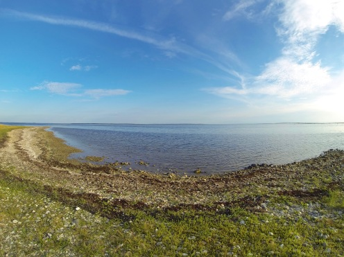 View towards Saaremaa island from VIlsandi