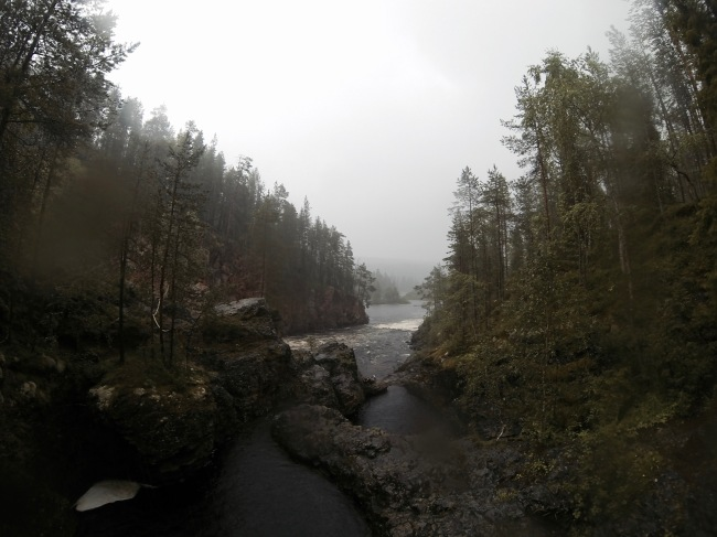 View down Oulanka river