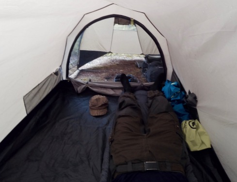Little rest at the tent