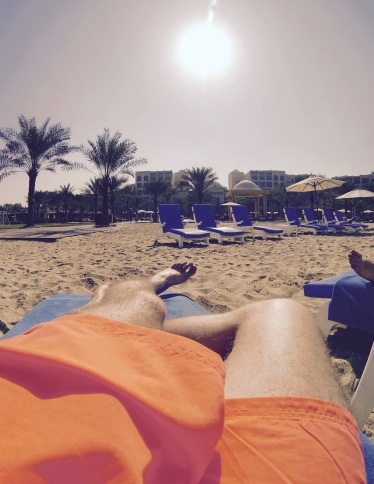 At Ras Al Khaimah beach