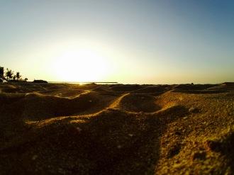Sun setting to the Gulf