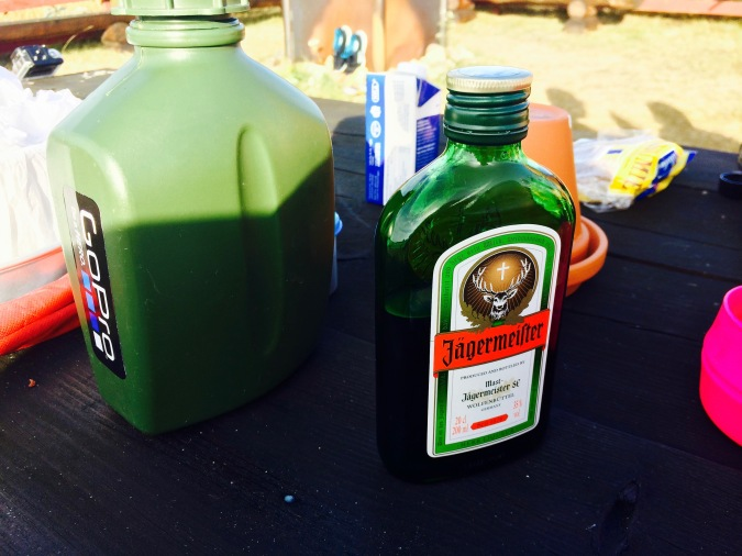 Some Jägermeister, naturally.