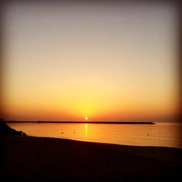 Sunset in the Arabian sea