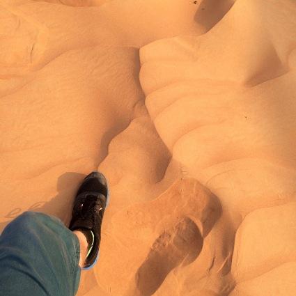 Footprint in the desert