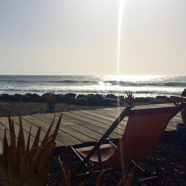 Playa de las Americas beach bar