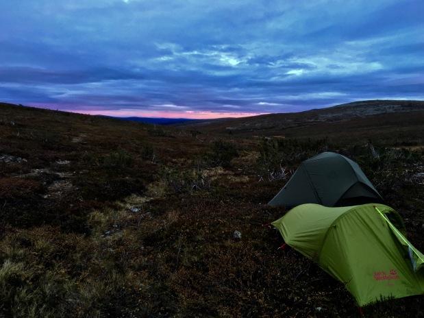 Urho Kekkosen kansallispuisto, UKK National Park, Niilapää, yö tunturissa